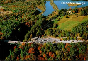 Vermont Aerial View U S Route 4 Crossing The Quechee Gorge