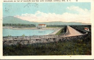 New York Catskill Mountains Ashokan Reservoir Boulevard and Gate Chamber 1923