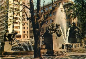 Postcard Italy Turin fountain of Angelica