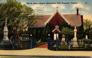 Virginia Hampton Old St John's Church Established 1610 1942