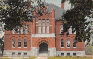 Ada Ohio~High School~Arch Front Door~1911 Postcard
