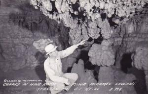 Grapes In Wine Room 5th Floor Merame Caverns Staton Missouri Real Photo