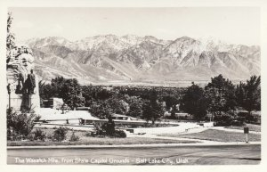 RP: SALT LAKE CITY , Utah , 1930-40s ; View of Wasatch Mts