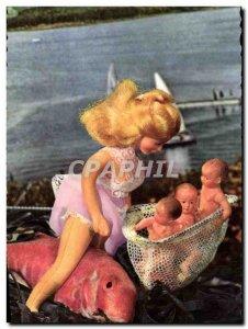 Postcard Modern Doll Pisces Babies Children