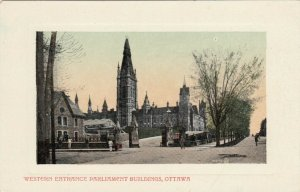 OTTAWA, Ontario, Canada, 1900-10s; Western Entrance Parliament Buildings