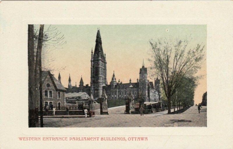 OTTAWA, Ontario, Canada, 1900-10s; Western Entrance Parliament Buildings