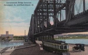 Government Bridge between Davenport, Iowa and Rock Island, Ilinois, Street Ca...
