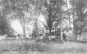 1920s Hollis Maine Quillcore Summer House Kate Douglas Wiggin RPPC 2056