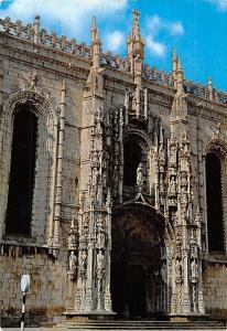 Portugal Lisboa Monastery of Jeronimos Main Gate 1970