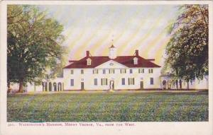 Virginia Mount Vernon George Washington's Mansion From The West