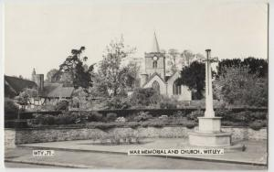 Surrey; War Memorialk & Church, Witley RP PPC, By Frith, 1970's