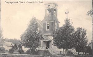 Central Lake Michigan~Congregational Church~Antrim County~c1910 Rotograph Pc