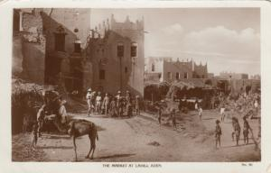 RP The Market at LAHEJ, Aden, 1920-30s