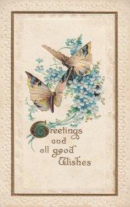 Butterflies on Flower , 1907