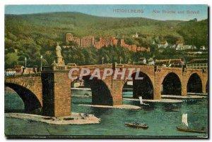 Postcard Old Heidelberg Alte Brucke und Schloss