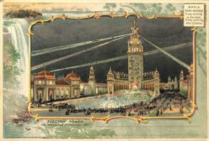 St Louis MO Pan American1901 Exposition Electric Power Rare 6 x 9 Postcard