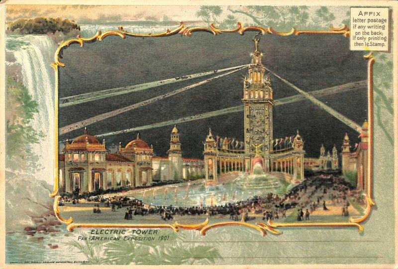 St Louis MO Pan American1901 Exposition Electric Power Rare 6 x 9 Postcard