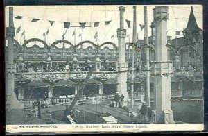 pc3008 postcard Coney Island Circus Maxime Glitter Luna Park not postally used