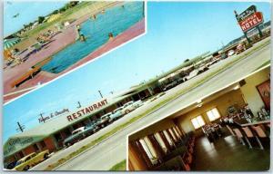 Tulsa, Oklahoma ROUTE 66 Postcard TOWN & COUNTRY MOTOR HOTEL Roadside c1960s