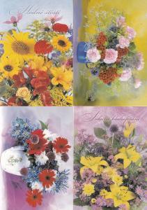 Prague Flowers 4x Postcard s