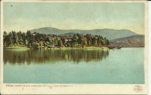 Lake George, N.Y. Green Island From Bolton Hill