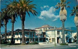 1950s Santa Barbara California Ocean Park Motel Roadside Colorpicture 6788