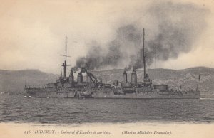 Warship : DIDEROT , France , 1900-10s