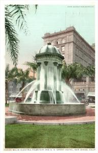 9233 CA San Diego   U.S. Grant Hotel and Wilde Electric Fountain