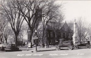 Iowa Toledo Court House Square Old Cars Real Photo sk7075