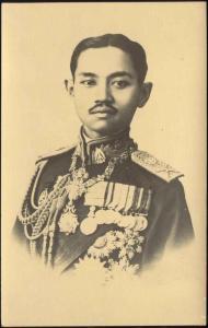 siam thailand, King Rama VII Prajadhipok in Uniform, Medals (1930s)