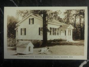 Mint USA RPPC Postcard Stephen Foster House Dearborn MI