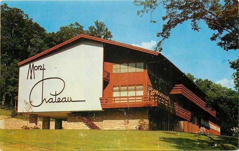 Morgantown West Virginia~Mont Chateau Lodge~Cheat Lake State Park~1950s Postcard
