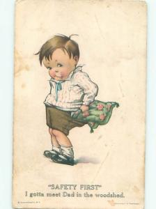 Pre-Linen BOY STUFFED PANTS TO PREPARE FOR SPANKING AC1833