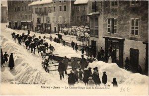 CPA Morez- Le Chasse Neige dans la Grande Rue FRANCE- (1044303)