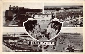 CLIFTONVILLE MARGATE KENT UK MULTI IMAGE SOUVENIR POSTCARD c1949