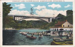 PITTSBURGH, Pennsylvania, PU-1934; Schenley Lake, Panther Hallow, Schenley Park