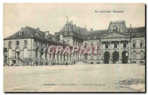 Old Postcard Luneville Chateau Court Pavilion of the left wing