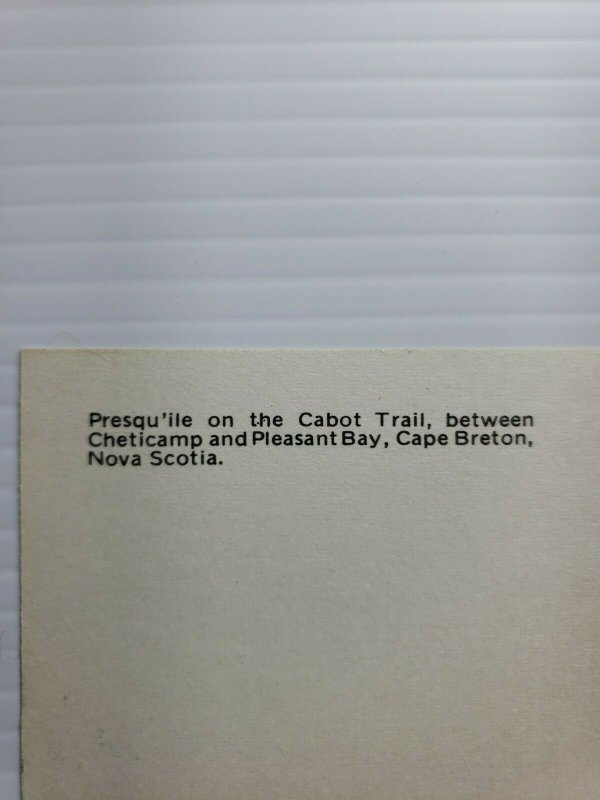 Vintage Postcard Presqu'ile on the Canon Trail Cape Breton Nova Scotia 1990