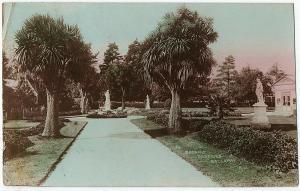 1908 RPPC Botanic Gardens Ballarat R.J. Victoria Australia Real Photo Postcard