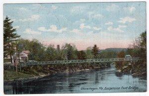 Skowhegan, Me, Suspension Foot Bridge