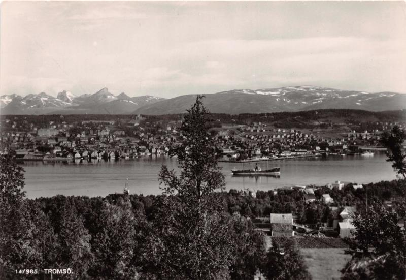 TROMSO NORWAY NORGE PANORAMA~ELEVATED VIEW~NORMANN PHOTO POSTCARD
