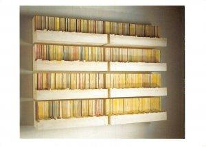 Art Sculpture Postcard, Untitled - Novels (1999) by Rachel Whiteread BD1
