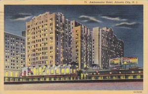 New Jersey Atlantic City The Ambassador Hotel 1944 Curteich