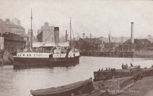 IPSWICH, England, 1900-1910's; River Orwell , Steamship