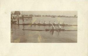 poland, SZCZEZIN STETTIN, Stettiner Regatta, Rowing (1925) RPPC Postcard