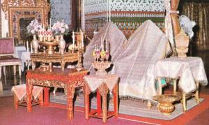 Thailand Cakrapatipiman Hall Ceremonial Hall Buddhist Priest Photo Postcard