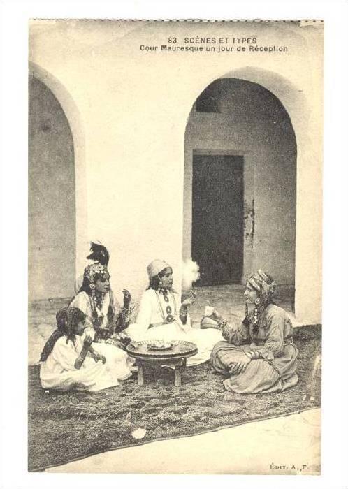 Scenes et Types, Cour mauresque un jour de Reception, United Arab Emirates, 0...