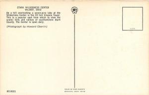 Wilmot OH~Stark Wilderness Center~Kiwanis Observation Tower~1960s Postcard