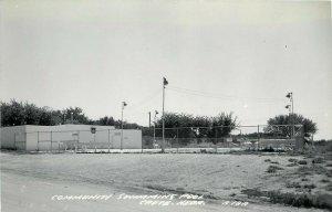 RPPC Postcard; Community Swimming Pool, Crete NE Saline County, LL Cook A18A