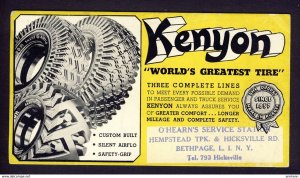 Bethpage, L.I. N.Y. USA - Kenyon World's greatest tires - O'Hearn's Service Stat